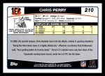 2006 Topps #210  Chris Perry  Back Thumbnail