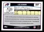 2006 Topps #227  Lee Evans  Back Thumbnail