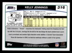2006 Topps #316  Kelly Jennings  Back Thumbnail