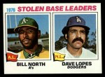 1977 Topps #4   -  Bill North / Dave Lopes SB Leaders   Front Thumbnail