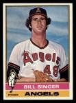 1976 Topps #411  Bill Singer  Front Thumbnail