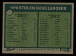 1977 Topps #4   -  Bill North / Dave Lopes SB Leaders   Back Thumbnail