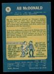 1969 O-Pee-Chee #18  Ab McDonald  Back Thumbnail