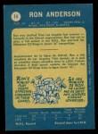 1969 O-Pee-Chee #14  Ron Anderson  Back Thumbnail