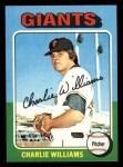 1975 Topps Mini #449  Charlie Williams  Front Thumbnail