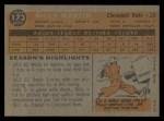 1960 Topps #173  Billy Martin  Back Thumbnail