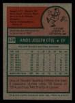1975 Topps Mini #520  Amos Otis  Back Thumbnail