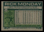 1977 Topps #360  Rick Monday  Back Thumbnail