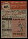 1953 Topps #185  Jim Pendleton  Back Thumbnail