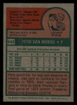 1975 Topps Mini #542  Pete Broberg  Back Thumbnail