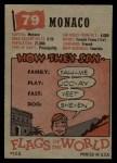 1956 Topps Flags of the World #79   Monaco Back Thumbnail