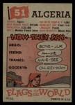 1956 Topps Flags of the World #51   Algeria Back Thumbnail
