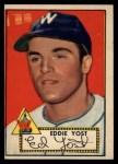 1952 Topps #123  Eddie Yost  Front Thumbnail