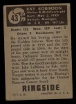 1951 Topps Ringside #43  Sugar Ray Robinson  Back Thumbnail