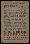 1951 Bowman #23  Hoot Evers  Back Thumbnail