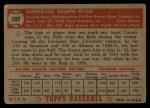 1952 Topps #107  Connie Ryan  Back Thumbnail