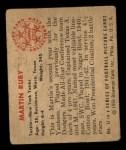1950 Bowman #13  Martin Ruby  Back Thumbnail