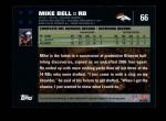 2007 Topps #66  Mike Bell  Back Thumbnail