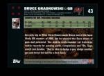 2007 Topps #43  Bruce Gradkowski  Back Thumbnail