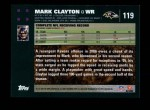 2007 Topps #119  Mark Clayton  Back Thumbnail