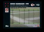 2007 Topps #153  Eddie Kennison  Back Thumbnail