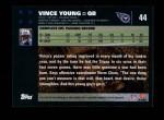 2007 Topps #44  Vince Young  Back Thumbnail
