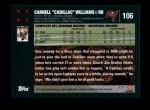 2007 Topps #106  Cadillac Williams  Back Thumbnail