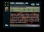2007 Topps #145  Greg Jennings  Back Thumbnail
