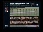 2007 Topps #15  Joey Harrington  Back Thumbnail