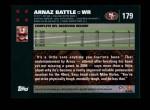 2007 Topps #179  Arnaz Battle  Back Thumbnail