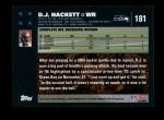 2007 Topps #181  D.J. Hackett  Back Thumbnail