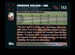 2007 Topps #113  Anquan Boldin  Back Thumbnail