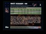 2007 Topps #3  Matt Schaub  Back Thumbnail