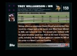 2007 Topps #159  Troy Williamson  Back Thumbnail