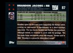 2007 Topps #87  Brandon Jacobs  Back Thumbnail