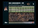 2007 Topps #9  Rex Grossman  Back Thumbnail