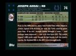 2007 Topps #74  Joseph Addai  Back Thumbnail