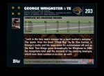 2007 Topps #203  George Wrighster  Back Thumbnail