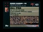 2007 Topps #423   -  Ronde Barber Pro Bowl Back Thumbnail