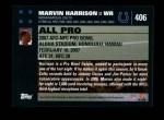 2007 Topps #406   -  Marvin Harrison Pro Bowl Back Thumbnail