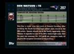 2007 Topps #207  Ben Watson  Back Thumbnail