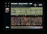 2007 Topps #325  Robert Meachem  Back Thumbnail