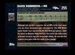 2007 Topps #255  Elvis Dumervil  Back Thumbnail