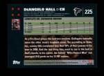 2007 Topps #225  DeAngelo Hall  Back Thumbnail