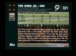 2007 Topps #321  Ted Ginn Jr.  Back Thumbnail