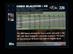2007 Topps #226  Chris McAlister  Back Thumbnail