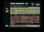 2007 Topps #378  Chris Houston  Back Thumbnail