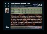 2007 Topps #254  DeMarcus Ware  Back Thumbnail