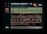 2007 Topps #253  Kamerion Wimbley  Back Thumbnail