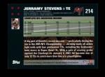 2007 Topps #214  Jerramy Stevens  Back Thumbnail
